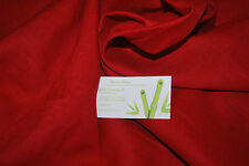 Linen 100% Woven Fabric From Europe light weight 7 oz L/YD Chili Pepper red