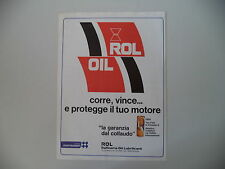 advertising Pubblicità 1980 ROL OIL ROLOIL