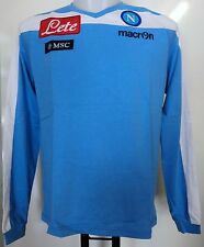 NAPOLI 2012/13 L/S COTTON TEE SHIRT BY MACRON SIZE EU MEDIUM BRAND NEW WITH TAGS