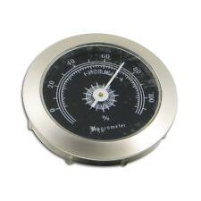 Hygrometer zum Einbauen in Humidore aus Chrom in silber 5 cm Durchmesser / 76154