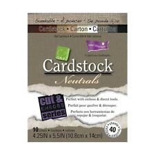 COLORCORE Cardstock CORE ESSENTIALS - NEUTRALS 40 Sheets 4.25 X 5.5