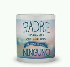 TAZAS DE CERAMICA PERSONALIZADAS MUG. Padre no hay más que uno... Desayuno cups