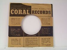 2-CORAL  RECORD COMPANY 45's SLEEVES LOT # 164