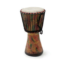 "Genuine African  D'Jembe Drum: Medium 16-18"", Delivery In About 8 Days."