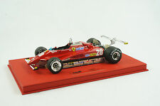1/18 BBR FERRARI 126C2 GP LONG BEACH D.PIRONI CAR#28 RED DELUXE LEATHER LE 5 MR