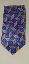 Vintage Cole Haan Blue Abstract Necktie Neck Tie 16750