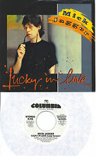MICK JAGGER  Lucky In Love  rare promo 45 with PicSleeve  ROLLING STONES