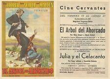 Programa de CINE. Título película: EL ÁRBOL DEL AHORCADO.
