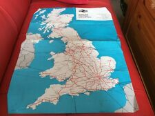 BRITISH RAIL,PASSENGER MAP 1973