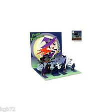 Little Witch Pop Up Greeting Card by Up With Paper Treasures #1030 Halloween