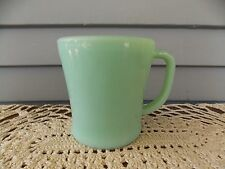 Vintage Fire King Jadeite Green Glass Coffee Cup Mug D Handle Flat Bottom