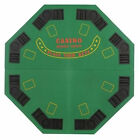 Poker Night - 120cm Green Felt FOLDING CASINO TABLE TOP For 8 Players