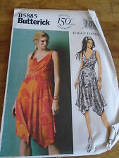 "PATRON ""BUTTERICK CREATION MAGGY LONDON ROBE ASYMETRIQ  T 34 A 42  N°5885  (RR)"