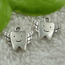 Free Ship 140 pieces tibet silver tooth charms 20x18mm #2430