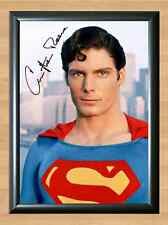 CHRISTOPHER REEVE SUPERMAN Signed Autographed A4 Print Photo Poster dvd uniform