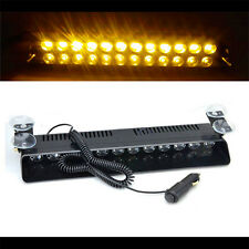 1Pc Amber 12LED Strobe Light Car Emergency Beacon Flash Bright Warning Lamp 12V