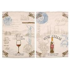 Demdaco Wine Label Tea Towels Set of 2 Assorted Kitchen Decoration Holiday gifts