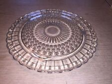 Vintage Footed Cake Plate  - Clear Glass