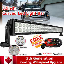 32Inch 180w Curved Led Work Light Bar Offroad Lighting Ford SUV ATV Truck 4WD 30
