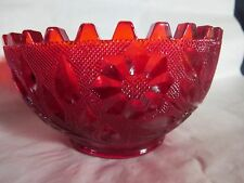 Westmoreland Glass Wildflower & Lace ? Red Candle Bowl