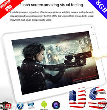 "9"" Inch Tablet PC Android 4.4 KitKat Quad Core 8GB Dual Camera Wi-Fi Bluetooth y"