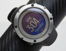 SUUNTO AMBIT3 3 PEAK SAPPHIRE GPS ALL BLACK Military Survival Watch NEW Cord +HR
