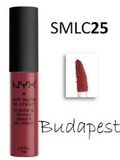 NYX Soft Matte Lip Cream SMLC 25 'BUDAPEST' Moist Lipstick Deep Mauve w/ Red
