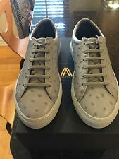 Axel Arigato Ostrich Leather Sneakers, Size 38