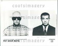1992 Synthpop Group Pet Shop Boys Neil Tennant Chris Lowe Press Photo
