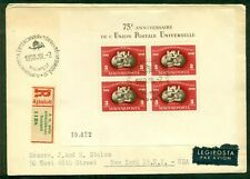 HUNGARY 1950, C81 UPU Souvenir Sheet on registered FDC, VF and scarce