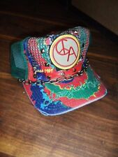 unisex LOVE STOCK RANCH by christian audigier STUDDED TRUCK CHAIN CAP GREEN o/s