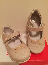 Garvalin Girls Beige Patent Leather Shoes BNIBWT EUR 24 / UK 7