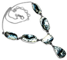Dendrite Opal 925 Sterling Silver Necklace Jewelry DRON2