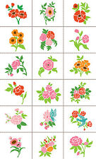 Slice Card Belle Fleur Fabric Fabrique digital Design Die Cut Applique Quilt