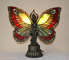 Stained Glass Butterfly Deco Girl Night Light Table Desk Lamp.