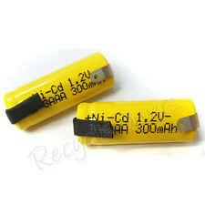 8pcs 2/3 AAA 3A 300mAh Ni-Cd 1.2V rechargeable battery with tab