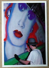 Carte postale Marie Rouffet,photo Lerat,dessin mural metro ,CPSM