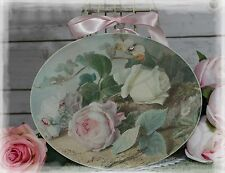 "NEW! ""Pink Rose..."" Vintage~Shabby Chic~Country Cottage style~Wall Decor Sign"