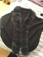 Siren Song Fox Fur Gules Cape Cardigan Real Fur Medium One Size