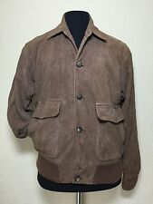 The Wilger Company Suede Brown Leather Vintage Jacket Men's sz 40 Made In USA