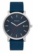 Skagen SKW6343 Men's Hagen Minimalist Blue Silicone Band 3-Hand Blue  Dial Watch