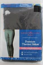 NEW Womens Thermal Underwear Waffle Knit Pants Large Black Bottoms Long Johns