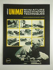 UNIMAT  Mininature Machining Techniques Book,Manual book.