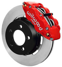"WILWOOD DISC BRAKE KIT,FRONT,84-89 JEEP,12"" ROTORS,RED CALIPERS,YJ,WRANGLER,ETC"