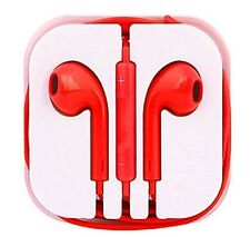 New Red Colour Headphones Earphone Handsfree With Mic For iPhone Models