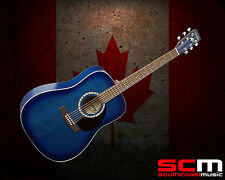 ART & LUTHERIE CEDAR BLUE DREADNOUGHT ACOUSTIC GUITAR HAND MADE IN CANADA NEW!