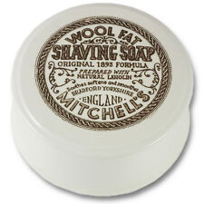 Mitchells Wool Fat Ceramic Dish and Lanolin Shaving Soap