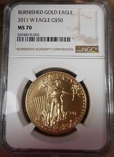 2011 $50 Burnished Gold Eagle coin! NGC MS70 Rare & Flawless! gd150
