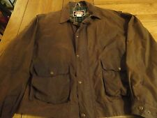 Vintage Australian Outback Jacket Oiled Waxed Coat Rain Duster COTTON womens XL