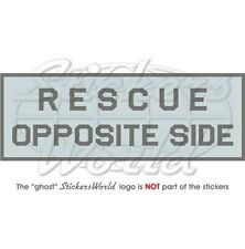 RESCUE OPPOSITE SIDE LowVis Aircraft USAF RAF NATO 100mm Vinyl Sticker, Decal